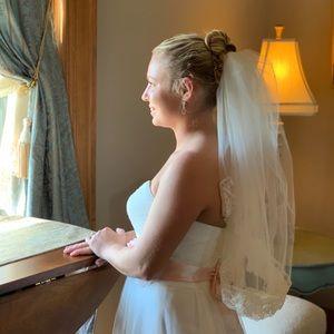 Wedding veil ivory